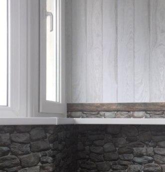 внутренняя отделка балкона под камень